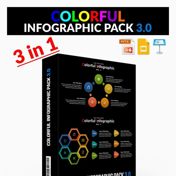 Bundle Colorful Infographic Pack 3.0