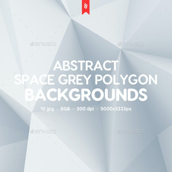 10 Different Space Grey Polygon Backgrounds