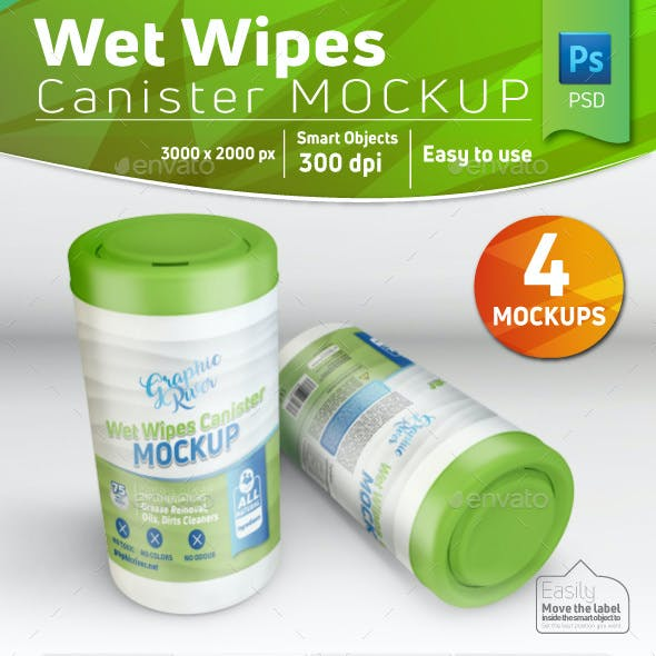 Wet Wipes Canister Mockup