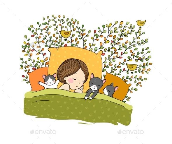 Strange Sleeping Girl And Cat In Bed Unemploymentrelief Wooden Chair Designs For Living Room Unemploymentrelieforg