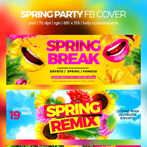Spring Party Facebook Cover