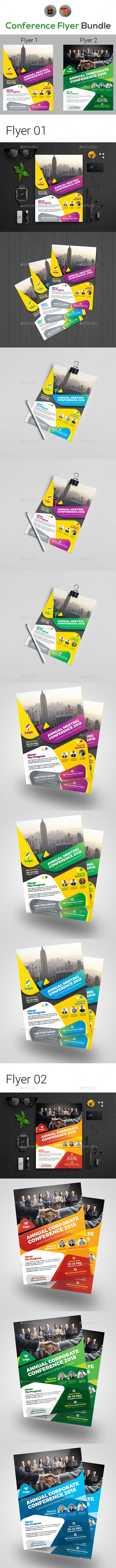 Annual Event Summit Flyer Bundle - Events Flyers