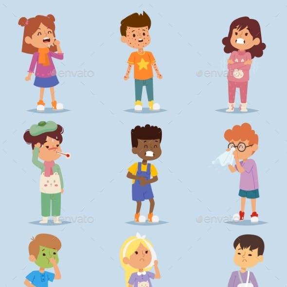 Children Sickness Illness Disease Little Kids