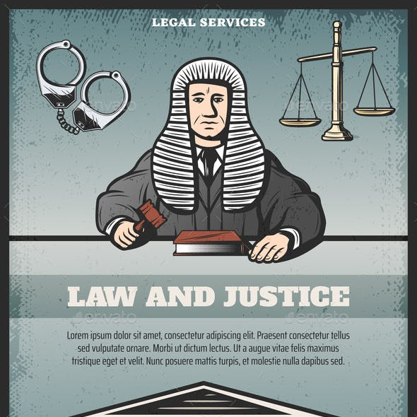 Vintage Colored Judicial System Poster