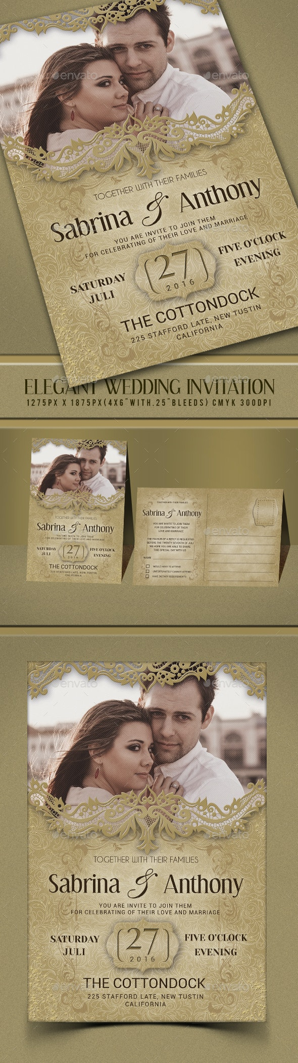 Elegant Wedding Invitation - Invitations Cards & Invites