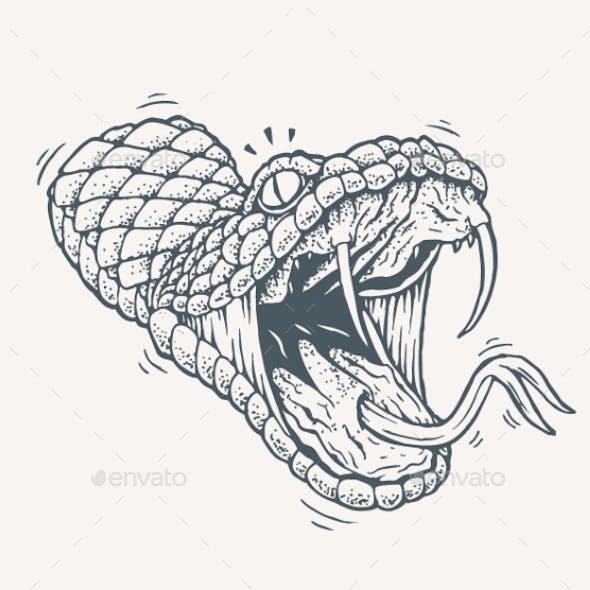 Venomous Snake Tattoo