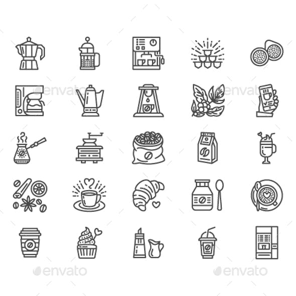 Coffee Line Icons