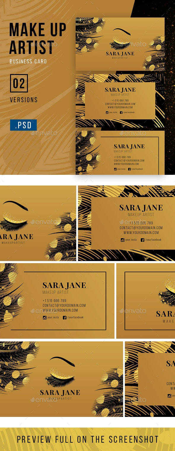 Luxury Makeup Artist Business Card by iconsoul   GraphicRiver