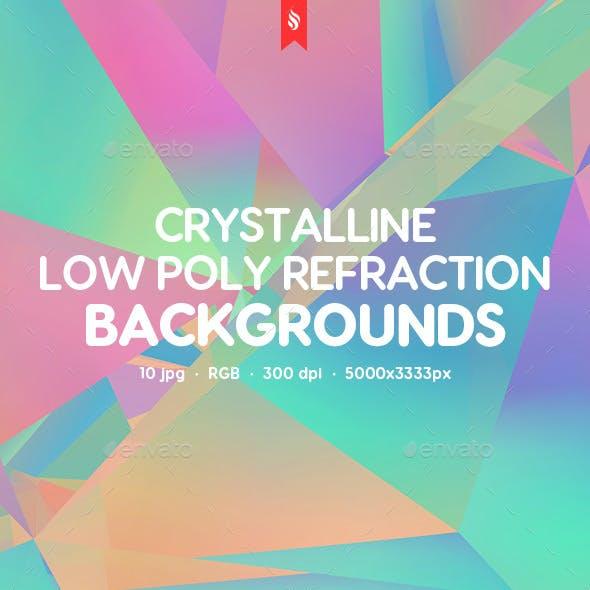 Crystal Refraction Looks Like Kaleidoscope Effect Backgrounds