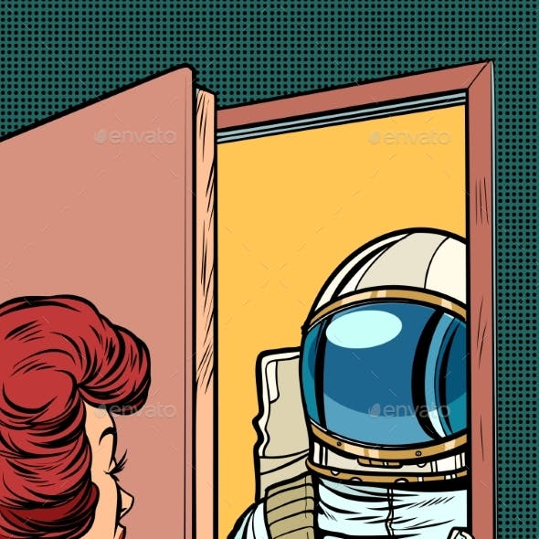 Astronaut Came to Visit a Woman
