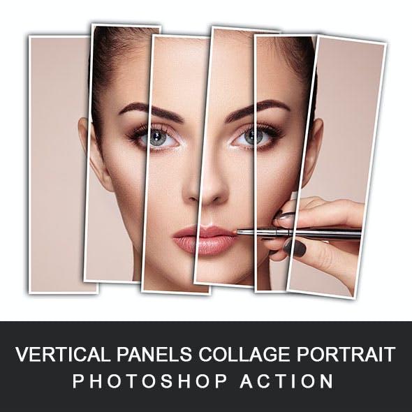 Vertical Panels Portrait Photoshop Action