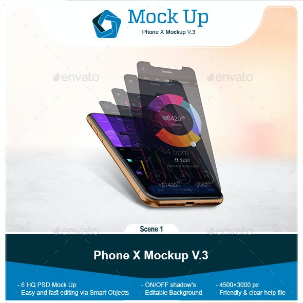 Phone X Mockup V.3