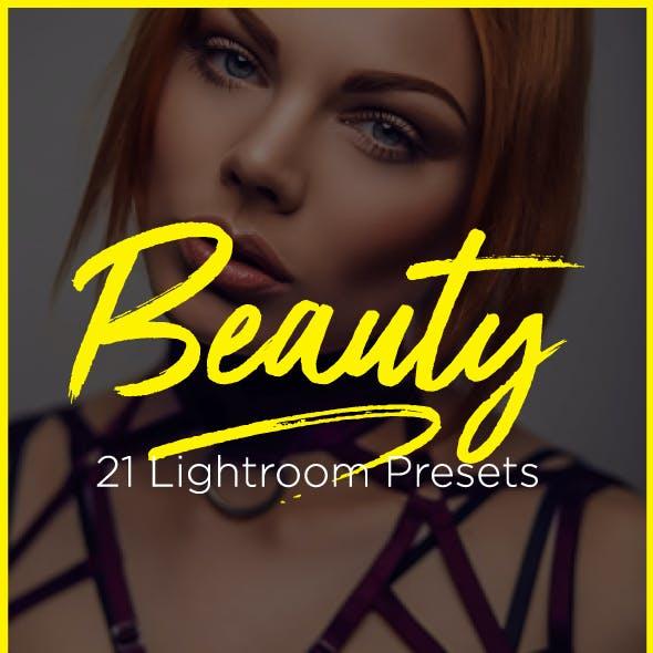 21 Pro Beauty Portrait Retouching Lightroom Presets