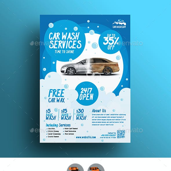 Car Wash Flyer V3