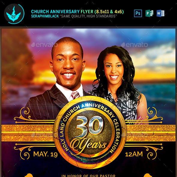 Royal Church Anniversary Flyer Template