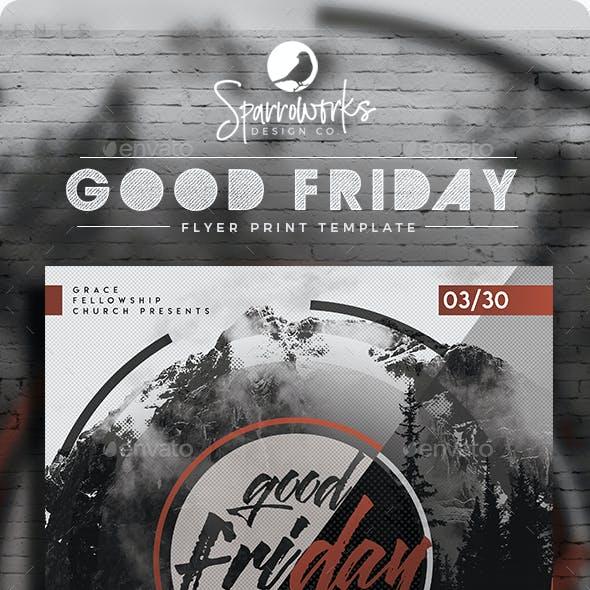 Modern Good Friday Service Flyer Template