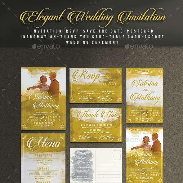 Elegant Wedding Invitation Package