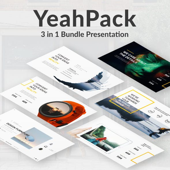3 in 1 Yeahh Pack Powerpoint Creative Bundle Template