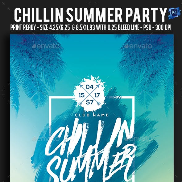 Chillin Summer Party Flyer