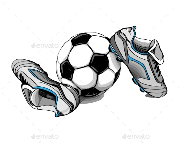 Football Boots and Ball - Sports/Activity Conceptual