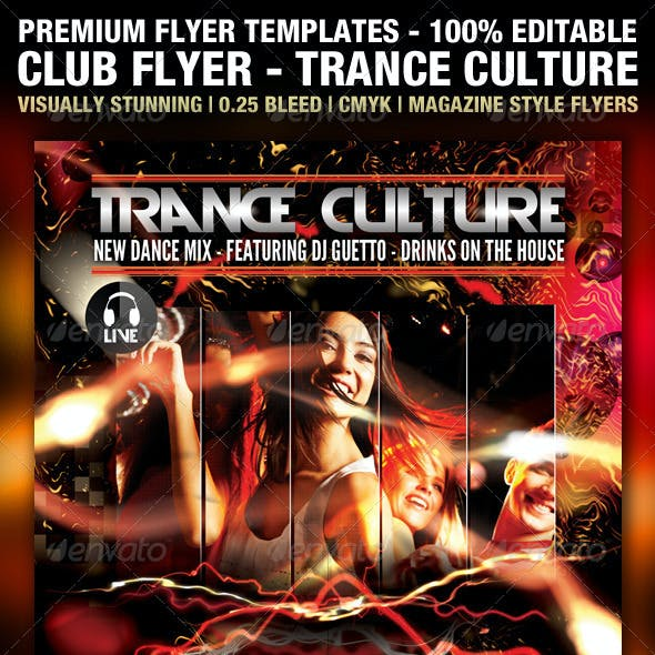 Trance Culture Flyer PSD Template
