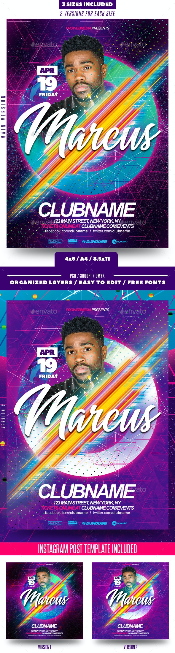 Trap / Future Bass Music Flyer - Clubs & Parties Events