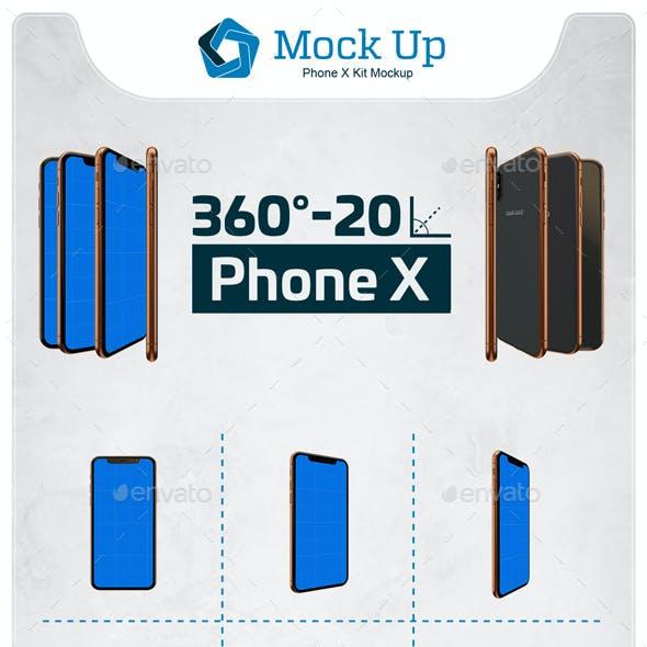 Phone X Kit Mockup