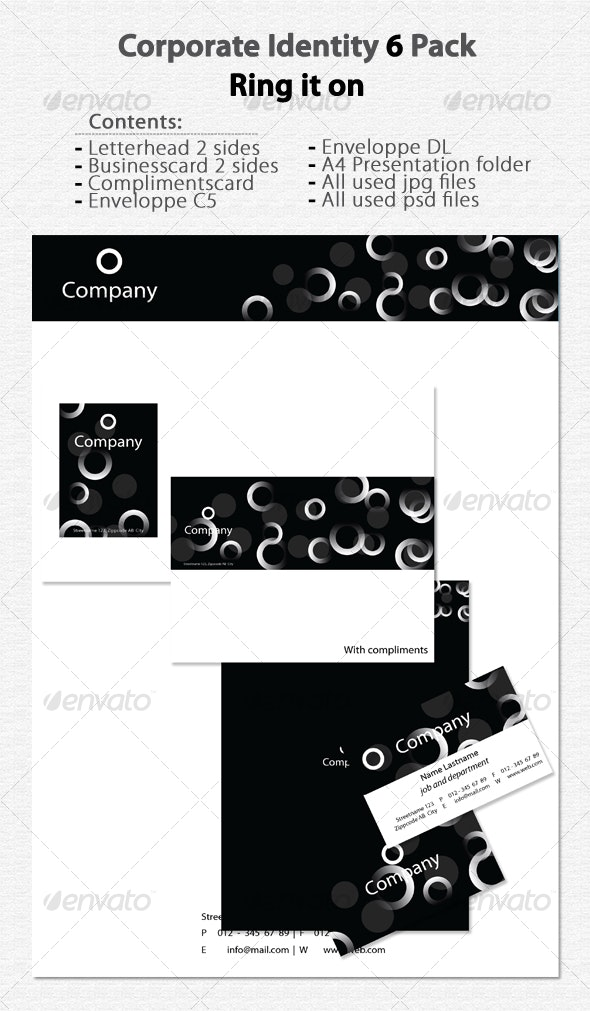 Corporate Identity 6 Ring it on - Stationery Print Templates