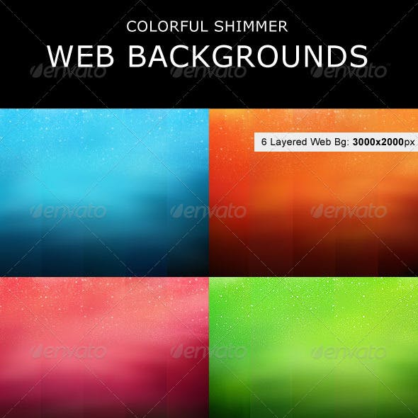 Colorful Shimmer Web Backgrounds