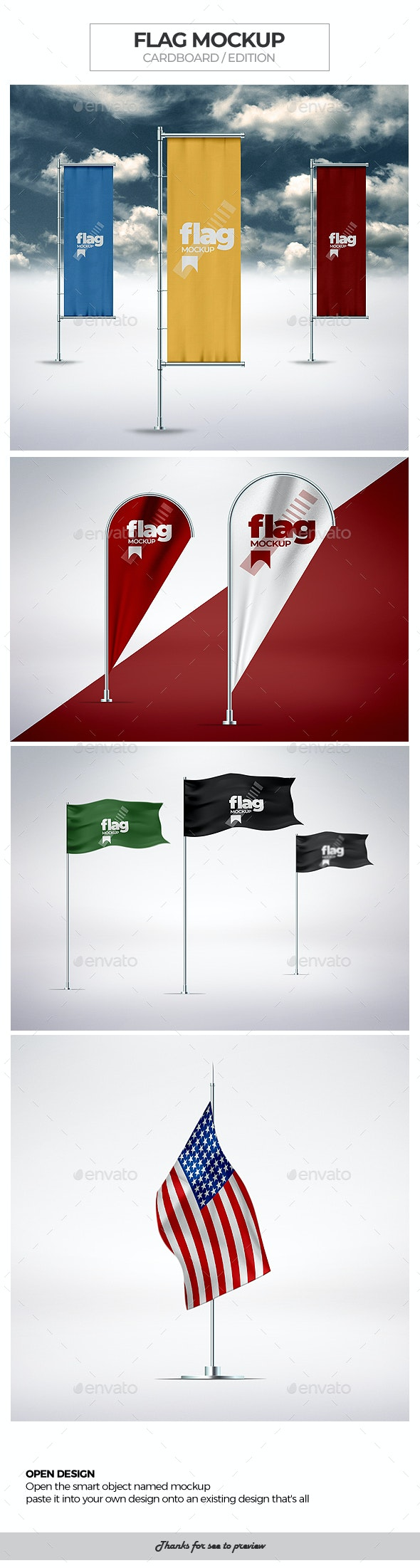 Flag Mock-Ups - Signage Print