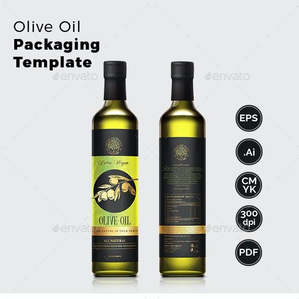 Olive Oil Packaging Label