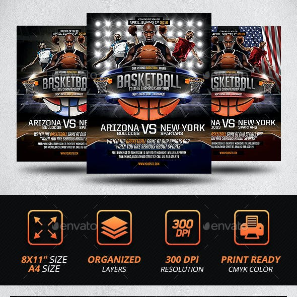 Basketball Game Poster Template