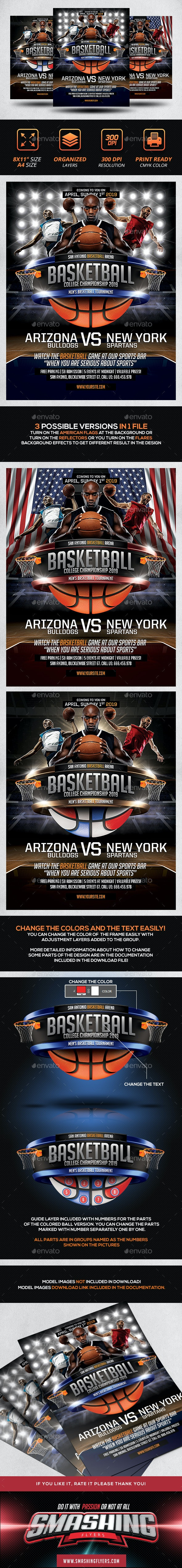 Basketball Game Poster Template - Sports Events