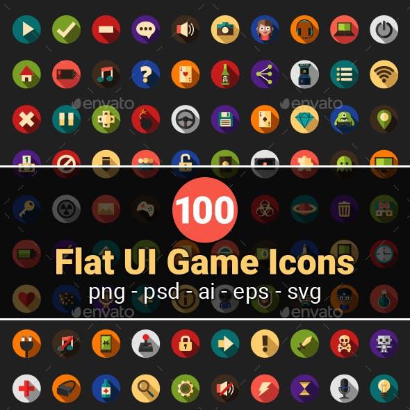 Flat UI game icons