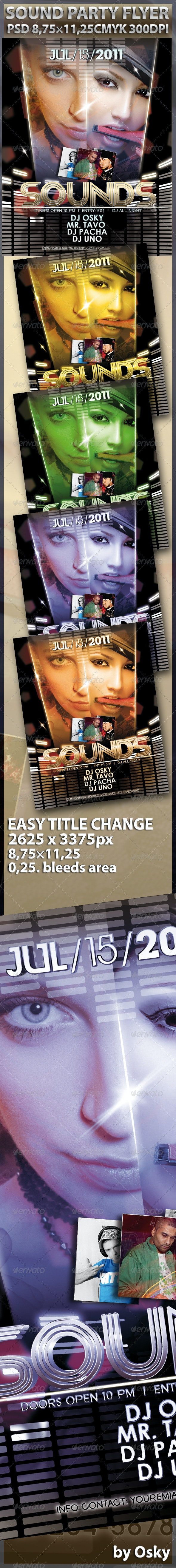 Sounds Party Flyer - Clubs & Parties Events