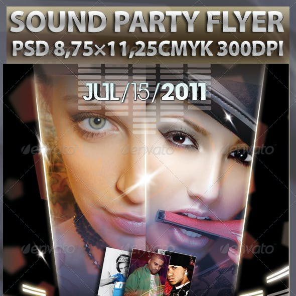 Sounds Party Flyer