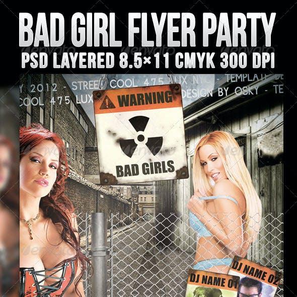 Bad Girl Flyer