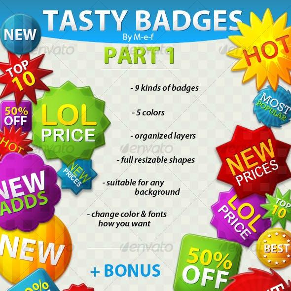 TASTY BADGES PACK 1