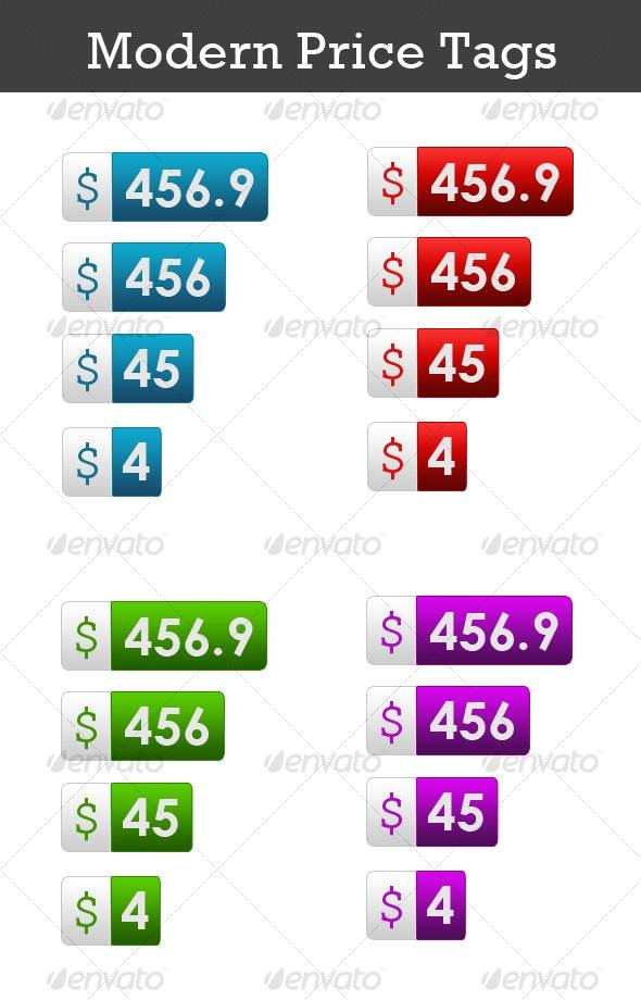 Modern Price Tags - Web Icons