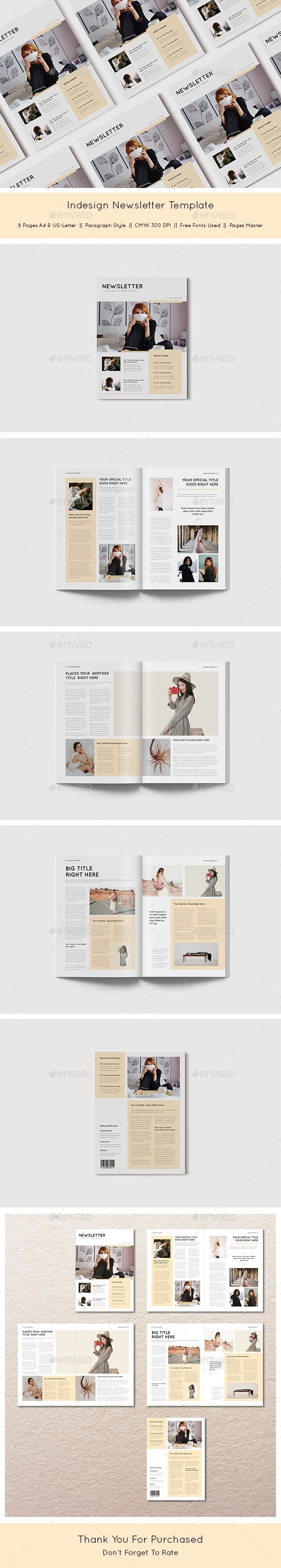 InDesign Newsletter Template - Newsletters Print Templates