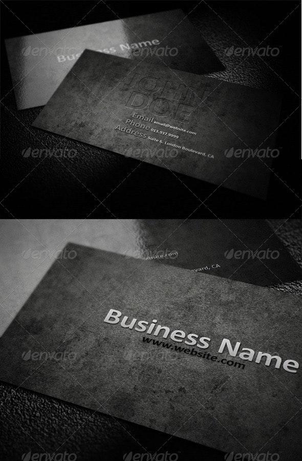 Darkish Grey Business Card - Creative Business Cards
