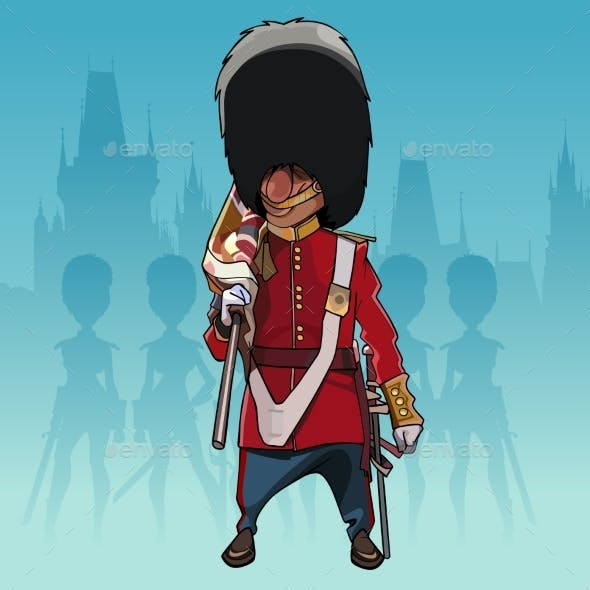 Cartoon Soldier of the Royal Guard