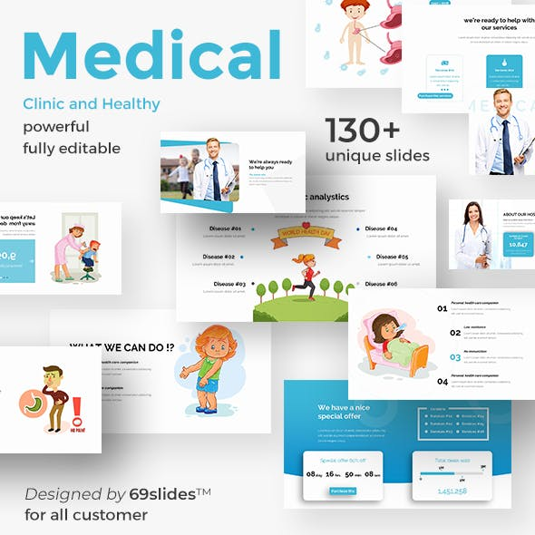 Medical Clinic - Health and Doctor Medical Google Slide Template