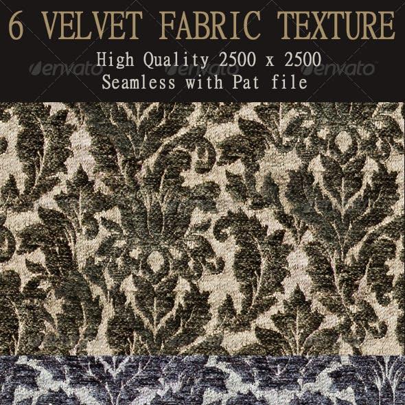 6 Seamless Velvet Fabric Textures