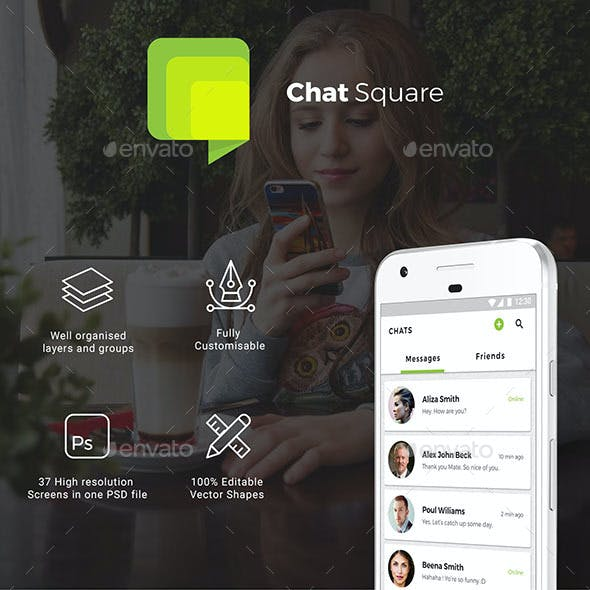 Chatiing & Social App UI for Android & iOS | Chat Square