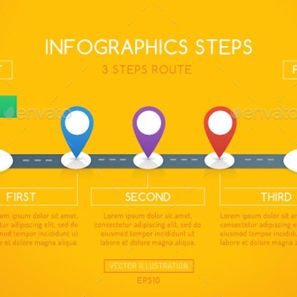 Milestone Infographics - 3 Steps