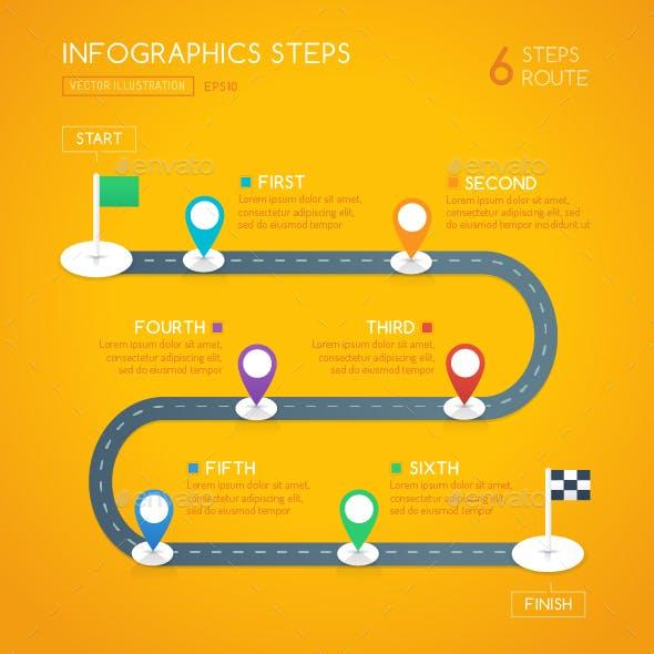 Milestone Infographics - 6 Steps