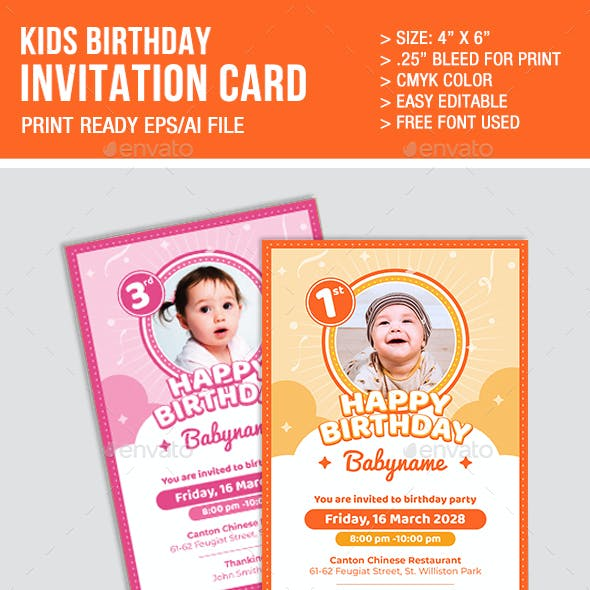 Boy And Girl Card Designs Invite Templates From