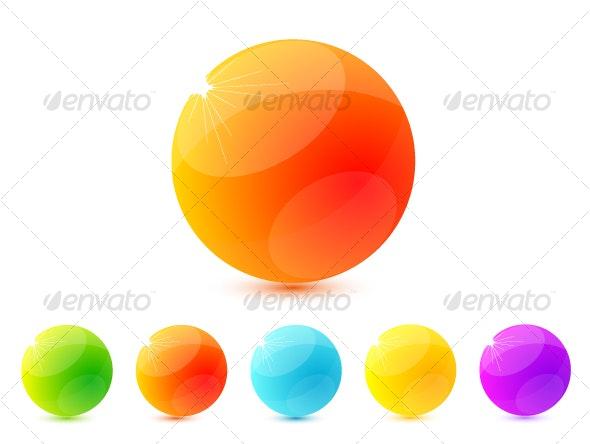 Colourful shiny icons - Decorative Symbols Decorative