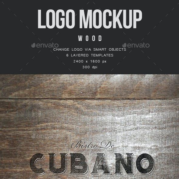Logo Mockup - Wood